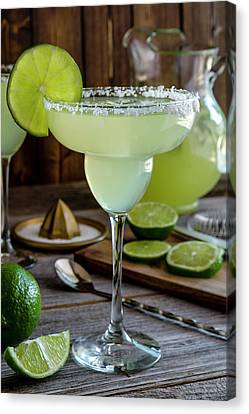 Canvas Print featuring the photograph Lime Margaritas by Teri Virbickis