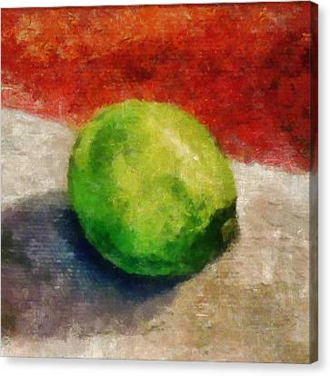 Lime Still Life Canvas Print by Michelle Calkins