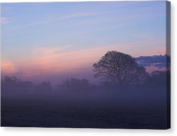 Limerick Foggy Sunrise Ireland Canvas Print by Pierre Leclerc Photography