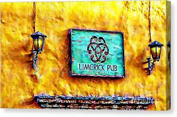 Limerick Pub Canvas Print by John  Kolenberg