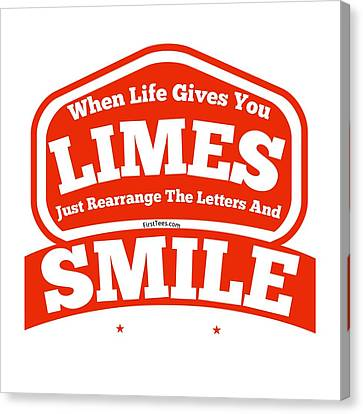 Limes And Smiles Canvas Print