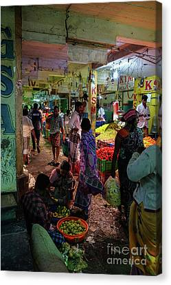 Canvas Print featuring the photograph Limes For Sale by Mike Reid