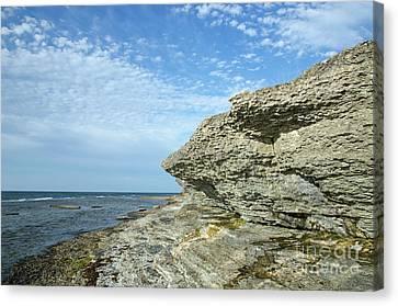 Canvas Print featuring the photograph Limestone Cliffs by Kennerth and Birgitta Kullman