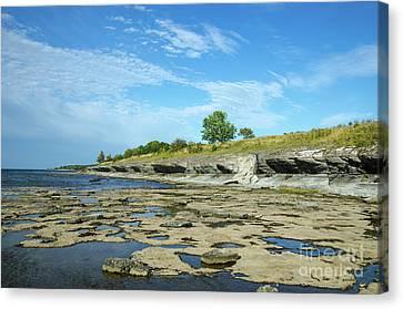 Canvas Print featuring the photograph Limestone Coast Patterns by Kennerth and Birgitta Kullman