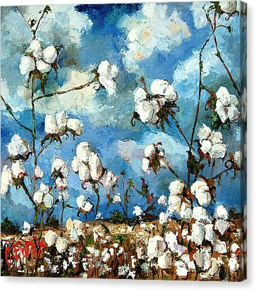 Limestone County Cotton Canvas Print by Carole Foret