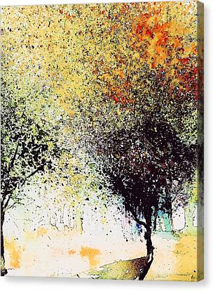 Abstact Landscapes Canvas Print - Leaf Series 2 by Julia S Powell