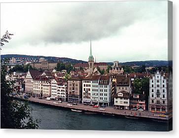 Limmatquai In Zurich Switzerland Canvas Print
