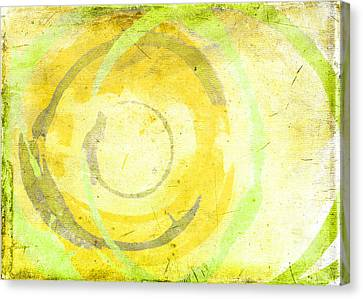 Abstract Expressionism Canvas Print - Limoncello by Julie Niemela