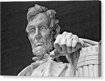 Lincoln And His Hand Canvas Print
