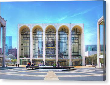 Metropolitan Opera House At Lincoln Center Canvas Print - Lincoln Center by Mark Andrew Thomas