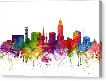 Lincoln Cityscape 06 Canvas Print by Aged Pixel