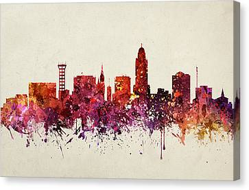 Lincoln Cityscape 09 Canvas Print by Aged Pixel