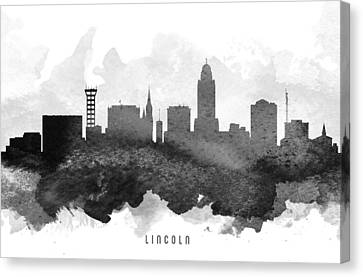 Lincoln Cityscape 11 Canvas Print by Aged Pixel