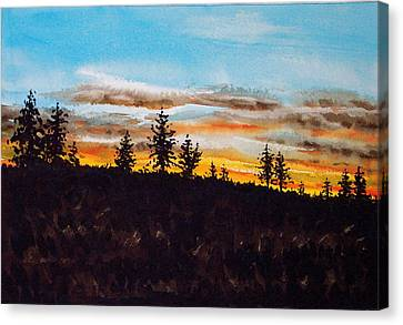 Lincoln County Sunset 1 Canvas Print