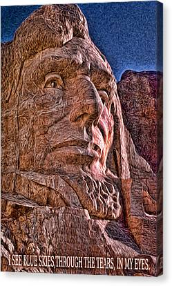 Lincoln Crying Canvas Print by Kevin  Sherf