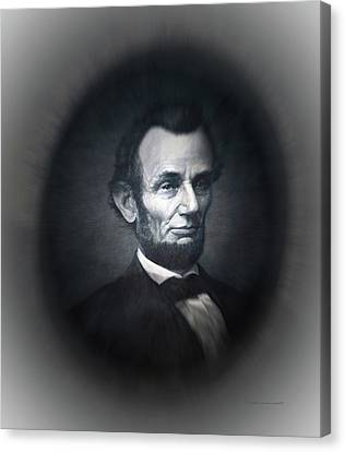 Lincoln Forever In Our Minds Eye Canvas Print