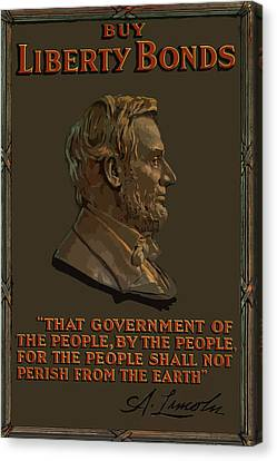 Lincoln Gettysburg Address Quote Canvas Print by War Is Hell Store