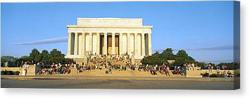 Democracy Canvas Print - Lincoln Memorial And Tourists by Panoramic Images