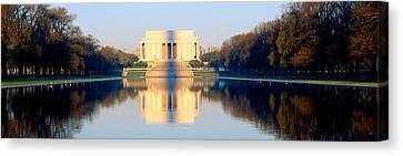 Lincoln Memorial In Shadow Canvas Print by Panoramic Images