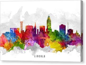 Lincoln Nebraska Cityscape 13 Canvas Print by Aged Pixel