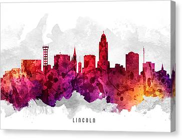 Lincoln Nebraska Cityscape 14 Canvas Print by Aged Pixel