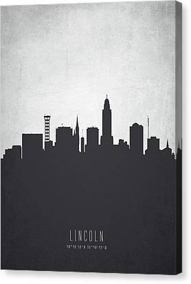 Lincoln Nebraska Cityscape 19 Canvas Print by Aged Pixel