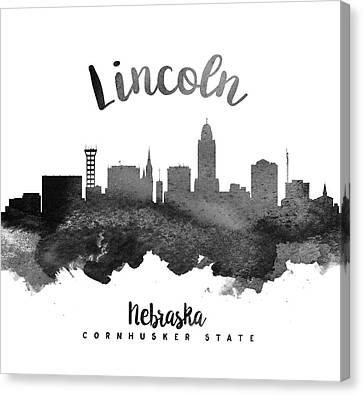 Lincoln Nebraska Skyline 18 Canvas Print by Aged Pixel