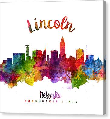 Lincoln Nebraska Skyline 23 Canvas Print by Aged Pixel