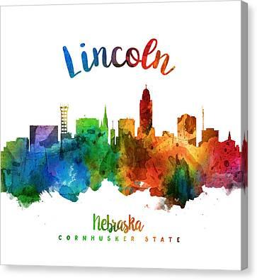 Lincoln Nebraska Skyline 25 Canvas Print by Aged Pixel