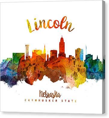 Lincoln Nebraska Skyline 26 Canvas Print by Aged Pixel