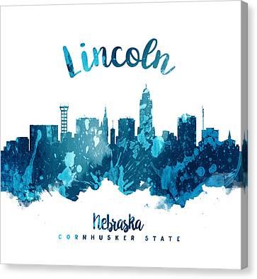 Lincoln Nebraska Skyline 27 Canvas Print by Aged Pixel
