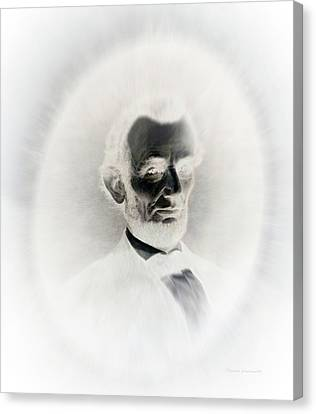 Lincoln Portrait Inverted Image Canvas Print