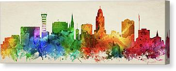 Lincoln Skyline Panorama Usneli-pa03 Canvas Print by Aged Pixel