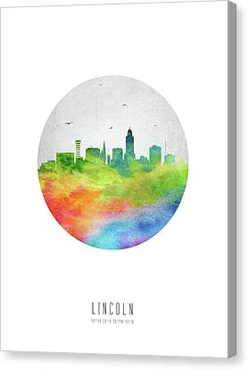 Lincoln Skyline Usneli20 Canvas Print by Aged Pixel