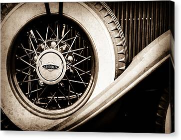 Lincoln Spare Tire Emblem -1842s Canvas Print