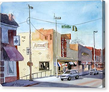Lincoln Street Tullahoma Canvas Print by Jeff Atnip