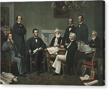 Lincoln's Cabinet Canvas Print