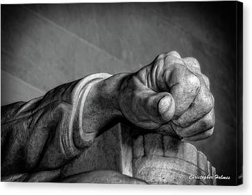Lincoln's Left Hand B-w Canvas Print by Christopher Holmes