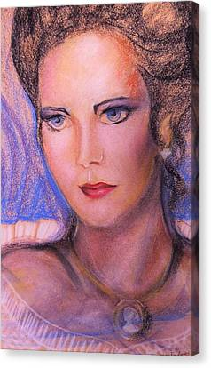 Canvas Print featuring the pastel Linda Carter by Denise Fulmer