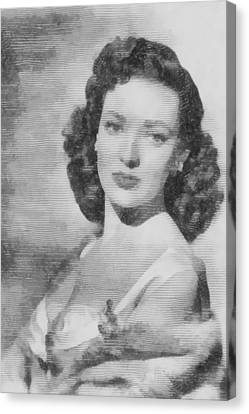 Linda Darnell, Actor Canvas Print by John Springfield