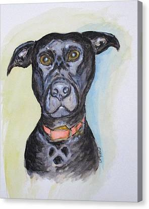 Linda's Doggie Canvas Print by Clyde J Kell