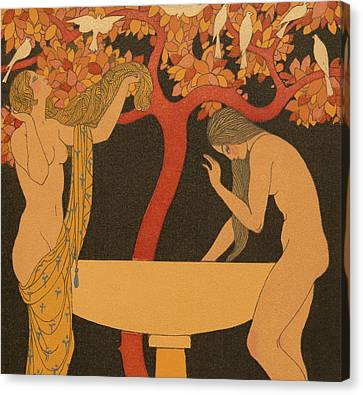 L'indifferent Canvas Print by Georges Barbier