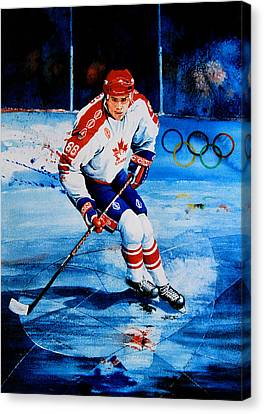Eric Lindros Canvas Print - Lindros by Hanne Lore Koehler