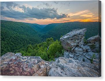 Canaan Valley West Virgina Lindy Point Sunset Canvas Print