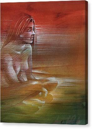 Line Nude 1977 Canvas Print by Glenn Bautista