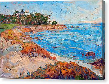 Canvas Print featuring the painting Line Of Monterey by Erin Hanson