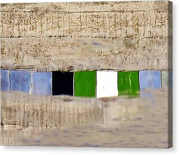 Linear Distortion - 7 Of 8 Canvas Print by Alan Todd