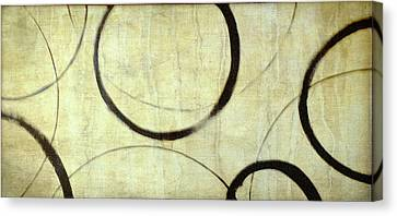 Canvas Print featuring the painting Linen Ensos by Julie Niemela