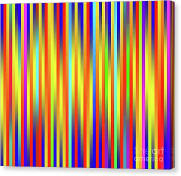 Canvas Print featuring the digital art Lines 17 by Bruce Stanfield