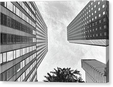 Canvas Print featuring the photograph Lines All The Way Up by Lora Lee Chapman